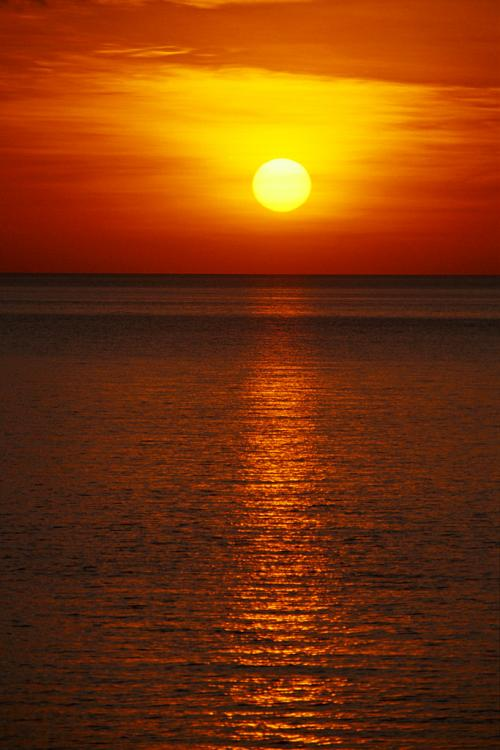Sunset over the Flores Sea